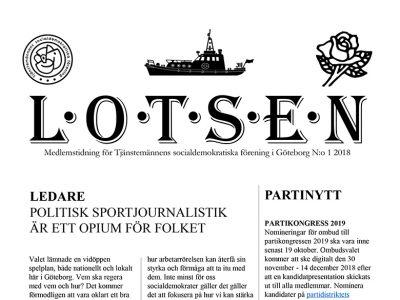 Lotsen – nytt medlemsblad från Tjänstemännens socialdemokratiska förening