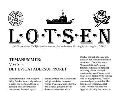 Extrainsatt temanummer av Lotsen om Vänsterpartiet vs Socialdemokraterna